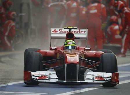 Фелипе Масса, пит-стоп в гонке на Гран При Индии 2011