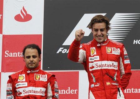 Фернандо Алонсо и Фелипе Масса на Гран При Германии 2010