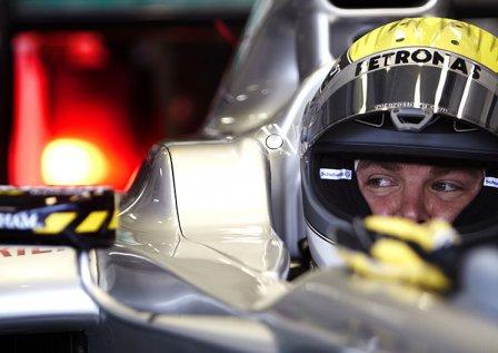 Нико Росберг, пятничные тренировки на Гран При Европы 2011