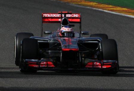 Дженсон Баттон в гонке на Гран При Бельгии 2012