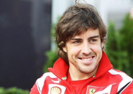 Фернандо Алонсо, портрет перед гонкой на Гран При Австралии 2011