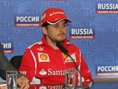 Джанкарло Физикелла на пресс-конференции в Москве 6-го июня 2012
