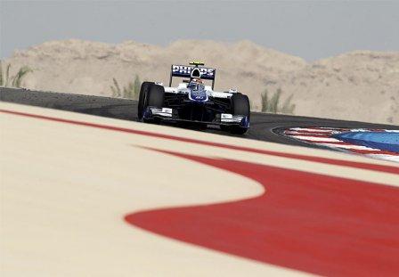 Нико Хюлкенберг на Гран При Бахрейна 2010