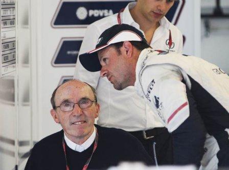 Сэр Фрэнк Уильямс и Рубенс Баррикелло на Гран При Венгрии 2011