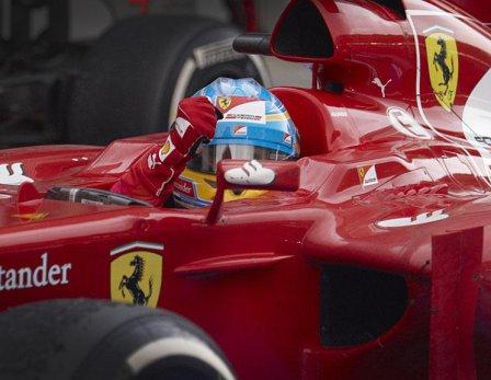 Фернандо Алонсо в гонке на Гран При Малайзии 2012