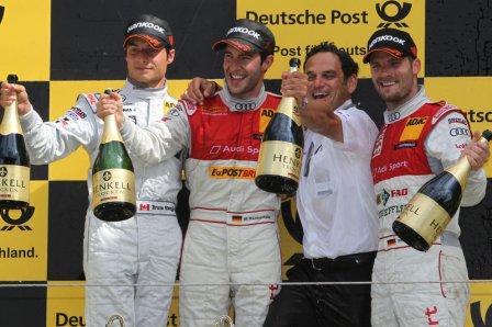 Подиум этапа DTM в Зандворте 2011