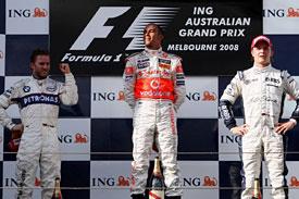 Подиум ГП Австралии 2008