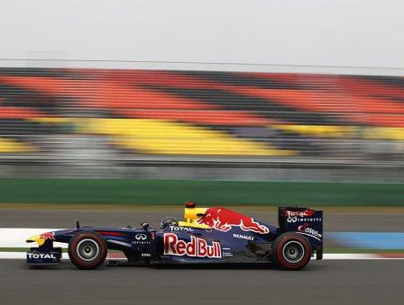 Себастьян Феттель в квалификации на Гран При Кореи 2011