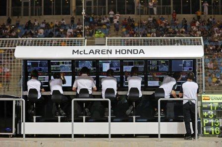 Командный мостик McLaren Honda