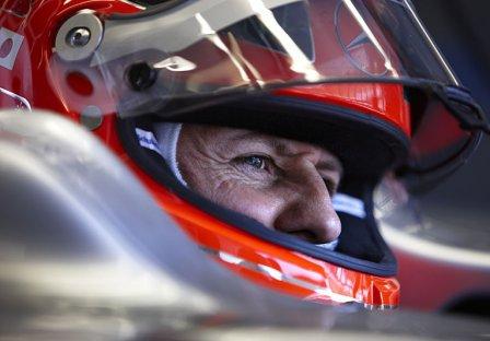 Михаэль Шумахер в болиде в квалификации на Гран При Турции 2011