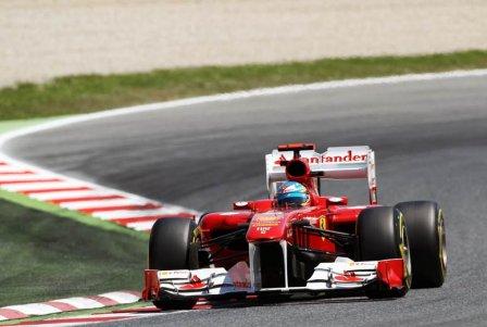 Фернандо Алонсо, пятничная тренировка на Гран При Испании 2011