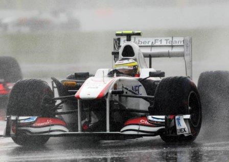 Педро де ла Роса в гонке на Гран При Канады 2011