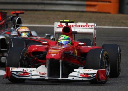 Фелипе Масса в гонке на Гран При Китая 2011