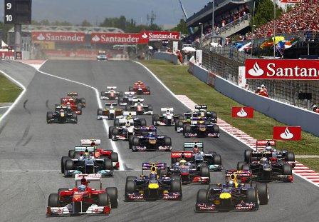 Старт Гран При Испании 2011