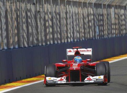 Фернандо Алонсо на Гран При Европы 2012
