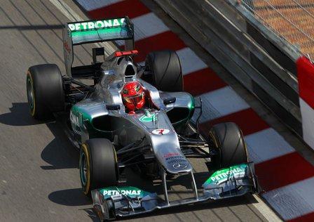 Михаэль Шумахер, свободные заезды на Гран При Монако 2012
