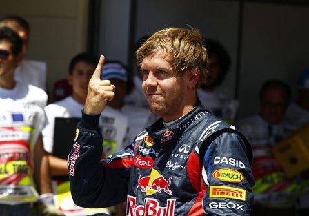 Себастьян Феттель на Гран При Европы 2011 в Валенсии