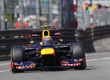 Марк Уэббер в квалификации на Гран При Монако 2012