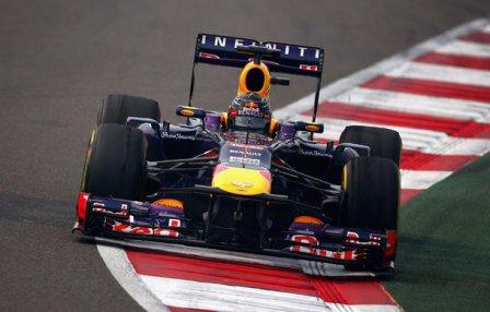 Себастьян Феттель на Гран При Индии 2013