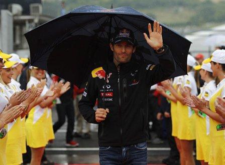 Марк Уэббер перед гонкой на Гран При Венгрии 2011