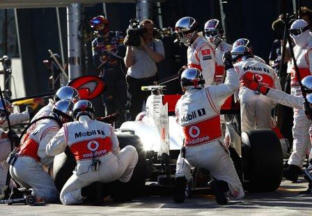 Пит-стоп Дженсона Баттона на Гран При Австралии 2011