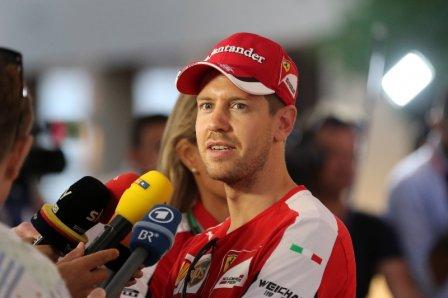 Себастьян Феттель на Гран При Абу-Даби 2015