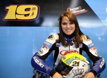 Елена Майерс, заезды на мотоцикле MotoGP в Индианаполисе 2011