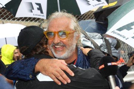 Флавио Бриаторе и Фернандо Алонсо на Гран При Монако 2016