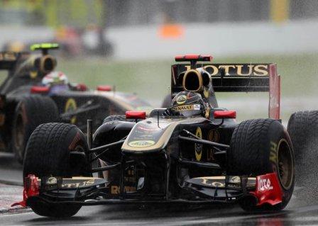 Ник Хайдфельд и Виталий Петров в гонке на Гран При Канады 2011