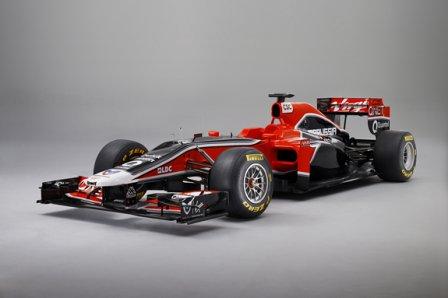 Новый болид MVR-02 команды Marussia Virgin Racing