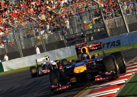 Себастьян Феттель в гонке на Гран При Австралии 2011