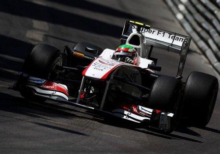 Серхио Перес в кваификации на Гран При Монако 2011