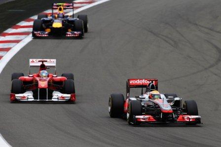 Хэмилтон, Алонсо, Уэббер, Гран-при Германии 2011