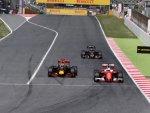 Даниэль Риккардо и Себастьян Феттель в гонке на Гран При Испании 2016