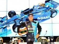 Рубенс Баррикелло на испытаниях автомобиля KV Racing 2012