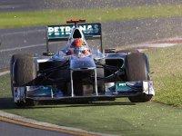 Михаэль Шумахер в гонке на Гран При Австралии 2011