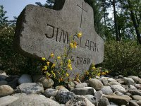 Мемориал на месте гибели Джима Кларка в Хоккенхайме
