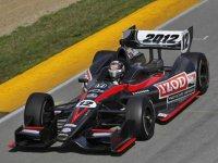Дэн Уэлдон испытывает шасси Dallara 2012 серии IndyCar в Мид-Огайо