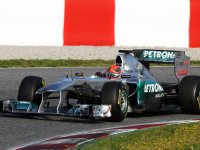 Михаэль Шумахер, тесты в Барселоне 10-го марта 2011