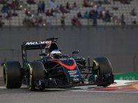Фернандо Алонсо, свободные заезды на Гран При Абу-Даби 2015