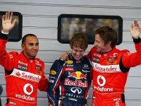 Хэмилтон, Феттель, Баттон - квалификация на Гран При Китая 2011