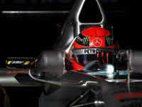 Михаэль Шумахер на тестах в Барселоне 21-го февраля 2011