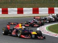 Себастьян Феттель в гонке на Гран При Испании 2012