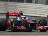 Льюис Хэмилтон в квалификации на Гран При Сингапура 2012