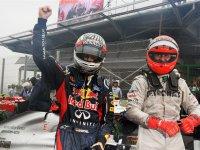 Себастьян Феттель и Михаэль Шумахер на Гран При Бразилии 2012