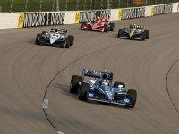 Дарио Франкитти в гонке во Йове серии IndyCar 2011