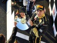 Виталий Петров, подиум на Гран При Австралии 2011