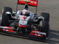 Дженсон Баттон в гонке на Гран При Китая 2011