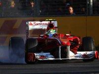 Фелипе Масса в гонке на Гран При Австралии 2011