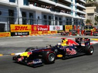 Себастьян Феттель в гонке на Гран При Монако 2011